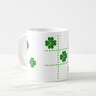 St. Patrick's Day Shamrocks Tic-Tac-Toe Design Mug