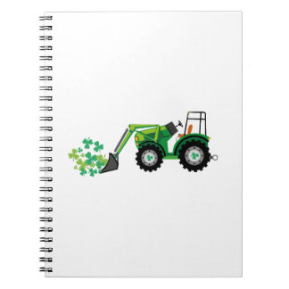 St. Patrick's Day Shamrocks Tow Truck For Boy Kids Notebooks