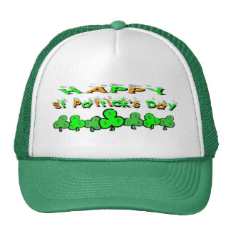 St Patrick's Day Shamrocks Trucker Hat