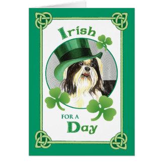 St. Patrick's Day Shih Tzu Card