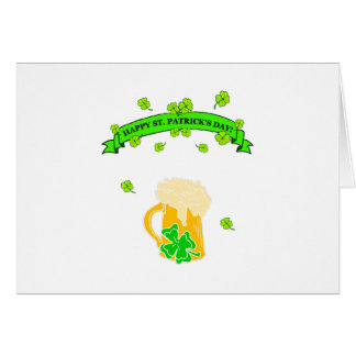 St Patrick's Day Sign Note Card