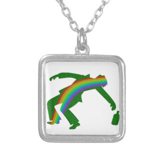 St. Patricks day Silver Plated Necklace