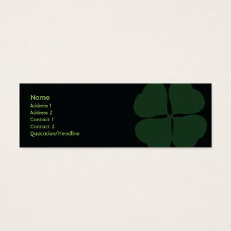 St. Patrick's Day - Skinny Mini Business Card