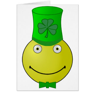 St Patrick's Day Smiley Note Cards