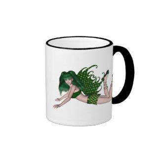 St. Patrick's Day Sprite 2 - Green Fairy Ringer Coffee Mug
