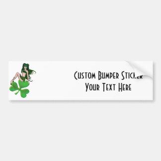 St. Patrick's Day Sprite 7 - Green Fairy Car Bumper Sticker