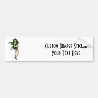 St. Patrick's Day Sprite 8 - Green Fairy Car Bumper Sticker