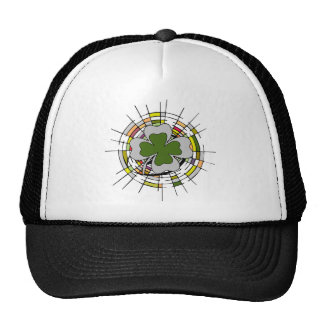 st. patrick's day, stained glass trucker hat