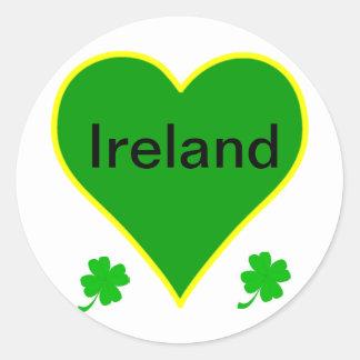 St Patricks Day Round Sticker
