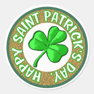 St. Patrick's Day Stickers. Round Sticker