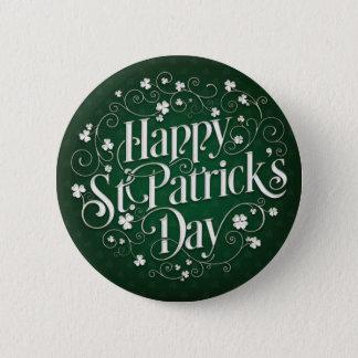 St. Patrick's Day - Swirled Word Art 2 Inch Round Button