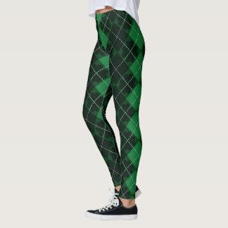 St. Patrick's Day Tartan & Shamrocks Leggings