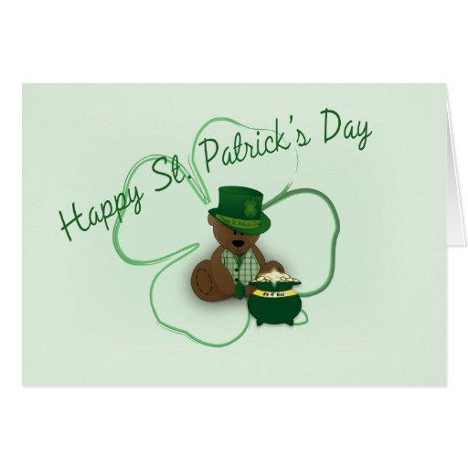 St. Patrick's Day Teddy Bear Cards
