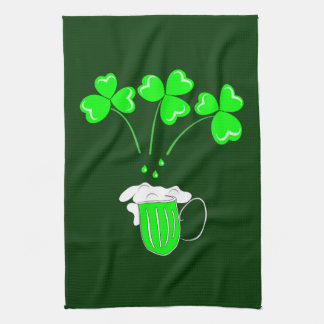 St. Patrick's Day The secret of brewing Custom Kitchen Towel