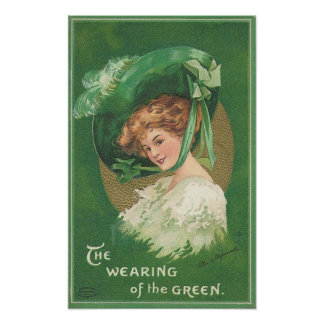 St Patrick's day The Wearing Of The Green Poster