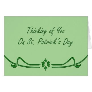 St Patricks Day Thoughts Card