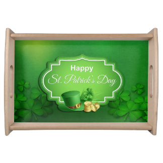 St. Patrick's Day Top Hat & Coins Serving Tray
