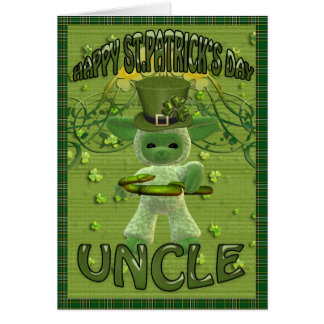 St Patrick's Day Uncle Card
