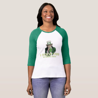 St. Patrick's Day Uncle Sham Green Sleeved (Women) T-Shirt