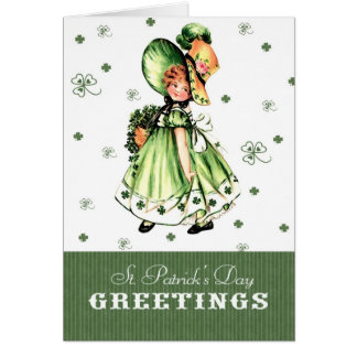 St. Patrick's Day Vintage Style Greeting Card