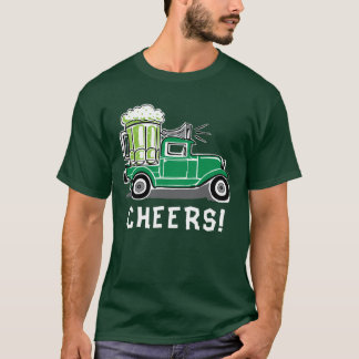 St Patrick's Day Vintage Truck Green Beer T-Shirt