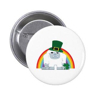 St. Patrick's day Yeti Pinback Button