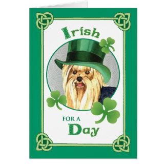 St. Patrick's Day Yorkie Card