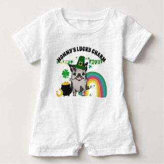 St. Patrick's Day Ziva Pig Baby Romper