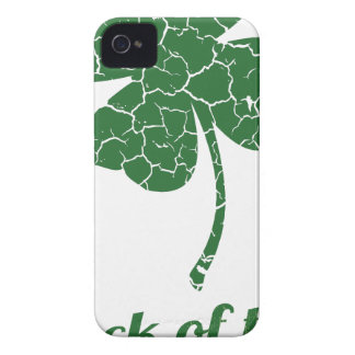 st patricks distressed lucky clover Case-Mate iPhone 4 case