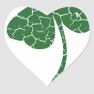 st patricks distressed lucky clover heart sticker