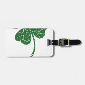st patricks distressed lucky clover luggage tag