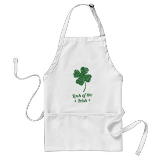 st patricks distressed lucky clover standard apron
