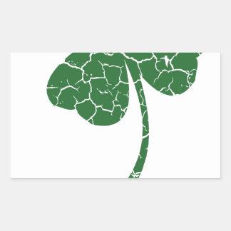 st patricks distressed lucky clover sticker