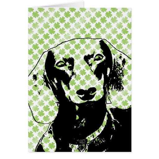 St Patricks Doxie Silhouette - Winston Card