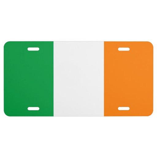St Patricks Flag Irish Colors License Plate