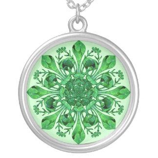 St. Patrick's Fleur de lis Silver Plated Necklace