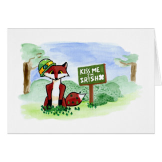 St. Patrick's Fox Card