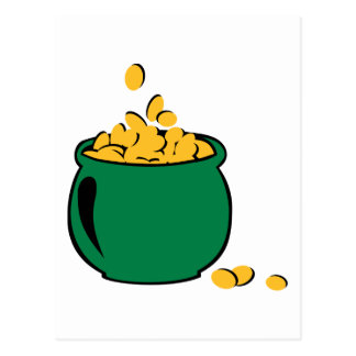 St. Patricks gold pot Postcard