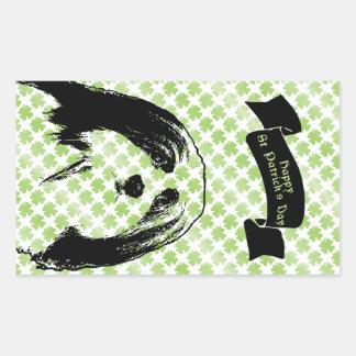 St Patricks - Havanese Silhouette Rectangle Stickers