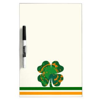 St Patrick's Ink Clover Dry-Erase Board