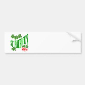 St Patrick's Irish Canadian Bumper Sticker
