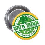 St. Patrick's Irish Drinking Team funny button