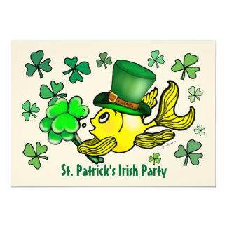 ST PATRICK'S IRISH PARTY INVITATION lucky goldfish