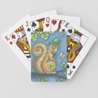 ST. PATRICK'S IRISH SQUIRREL PLAYING CARDS Poker