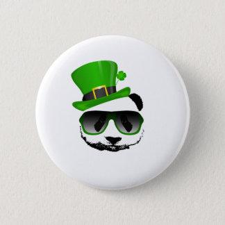 St. Patrick's Leprechaun Panda 2 Inch Round Button