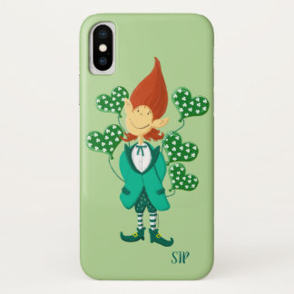 St Patrick's Lucky Leprechaun With Balloons Case-Mate iPhone Case
