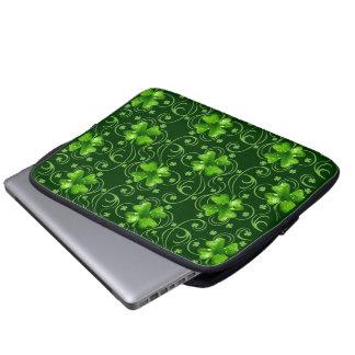 St. Patrick's Lucky Shamrocks electronics sleeve
