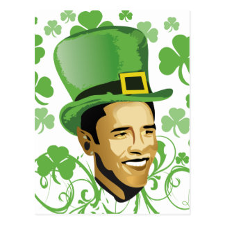 St Patrick's O'Bama 2009 Postcard