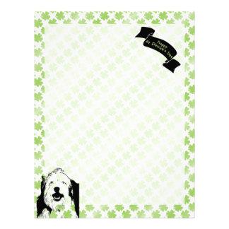 St Patricks - Old English Sheepdog Silhouette Letterhead Design