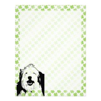 St Patricks - Old English Sheepdog Silhouette Custom Letterhead